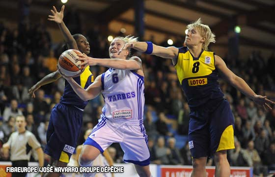6. Frida Eldebrink (Tarbes GB), 8. Erin Phillips (Lotos Gdynia)
